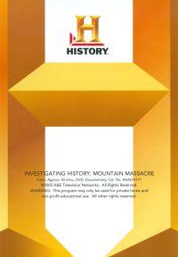 Investigating History: Mountain Massacre