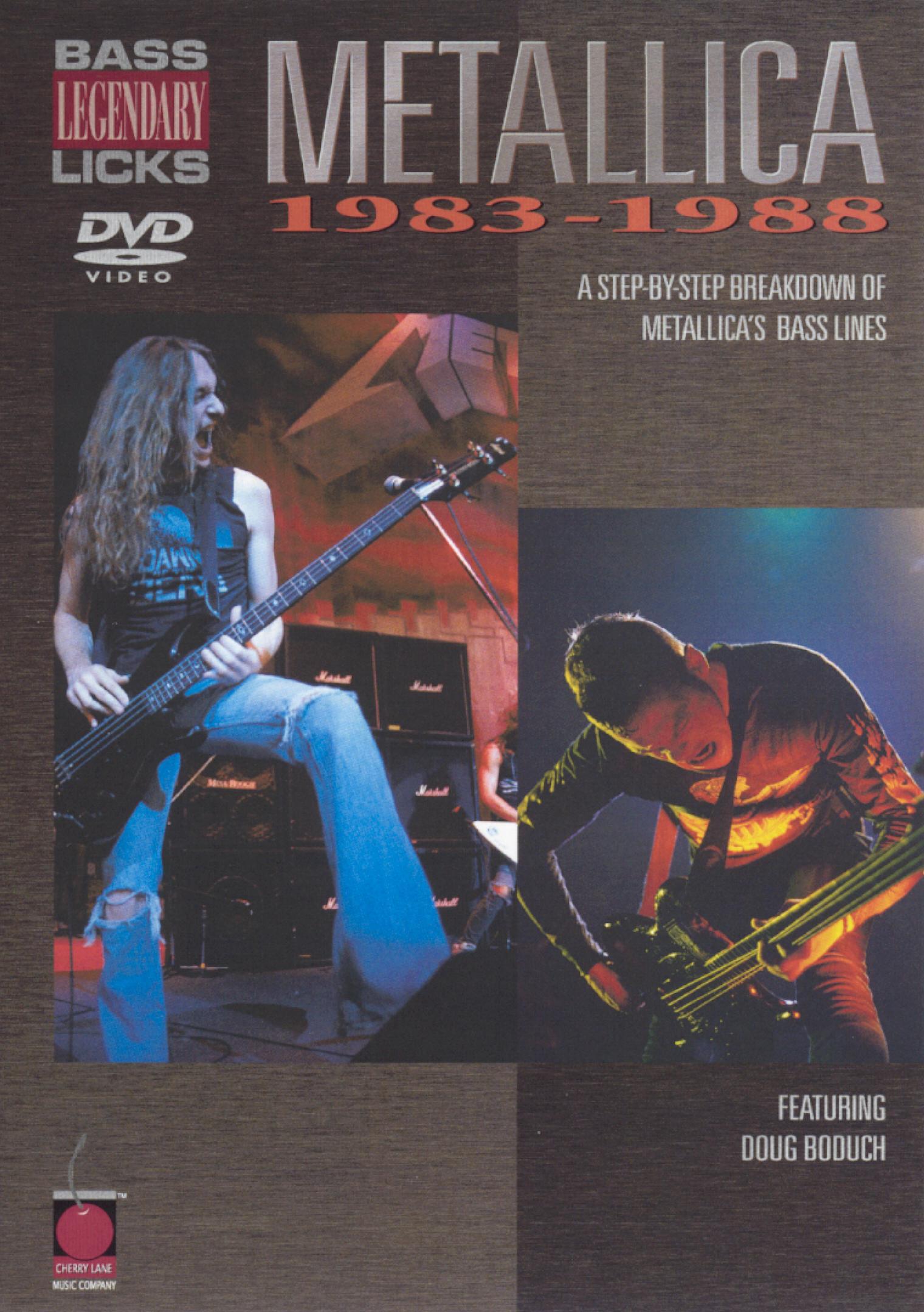 Metallica: Legendary Licks - Bass, 1983-1988