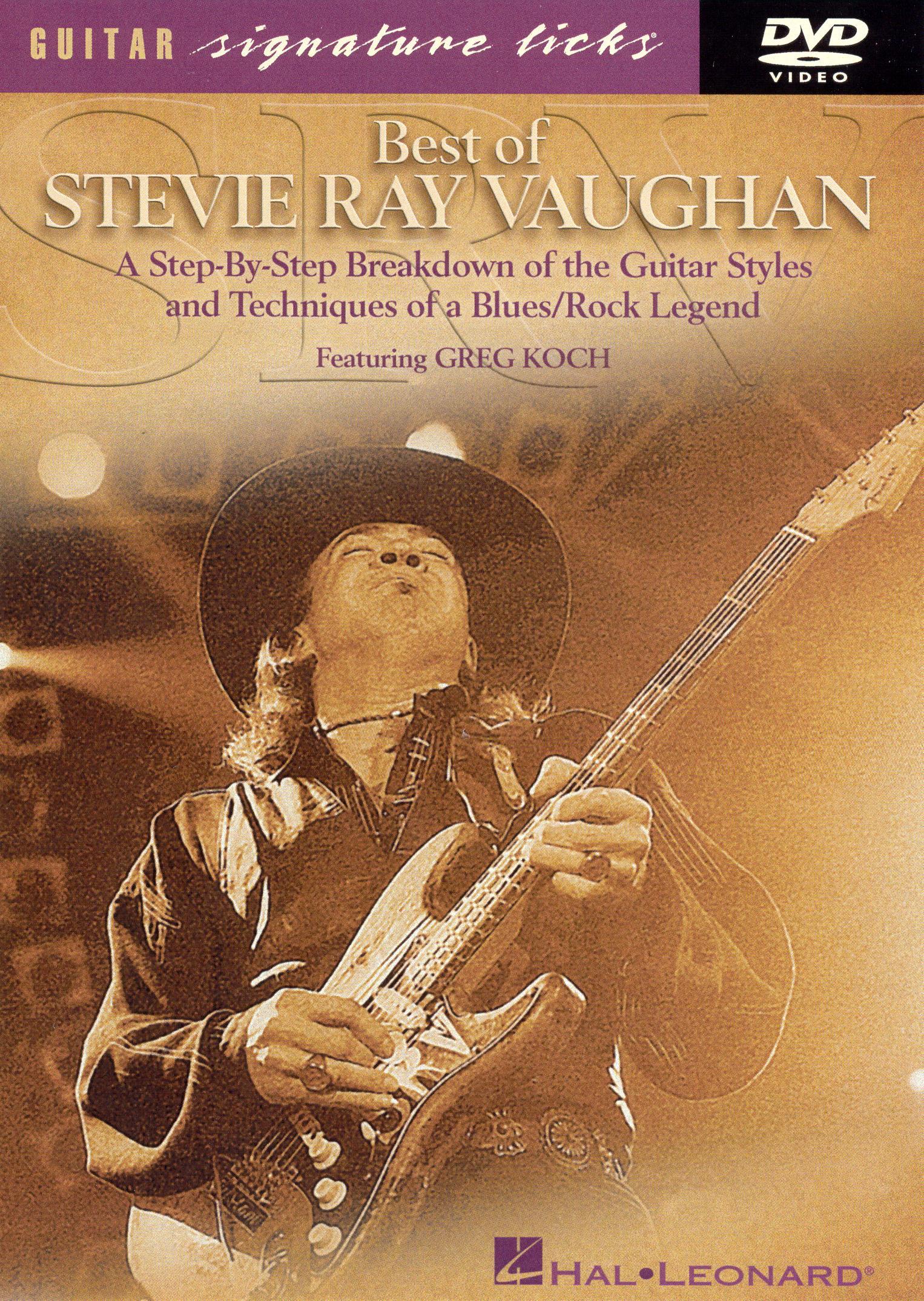 Guitar Signature Licks: Best of Stevie Ray Vaughan