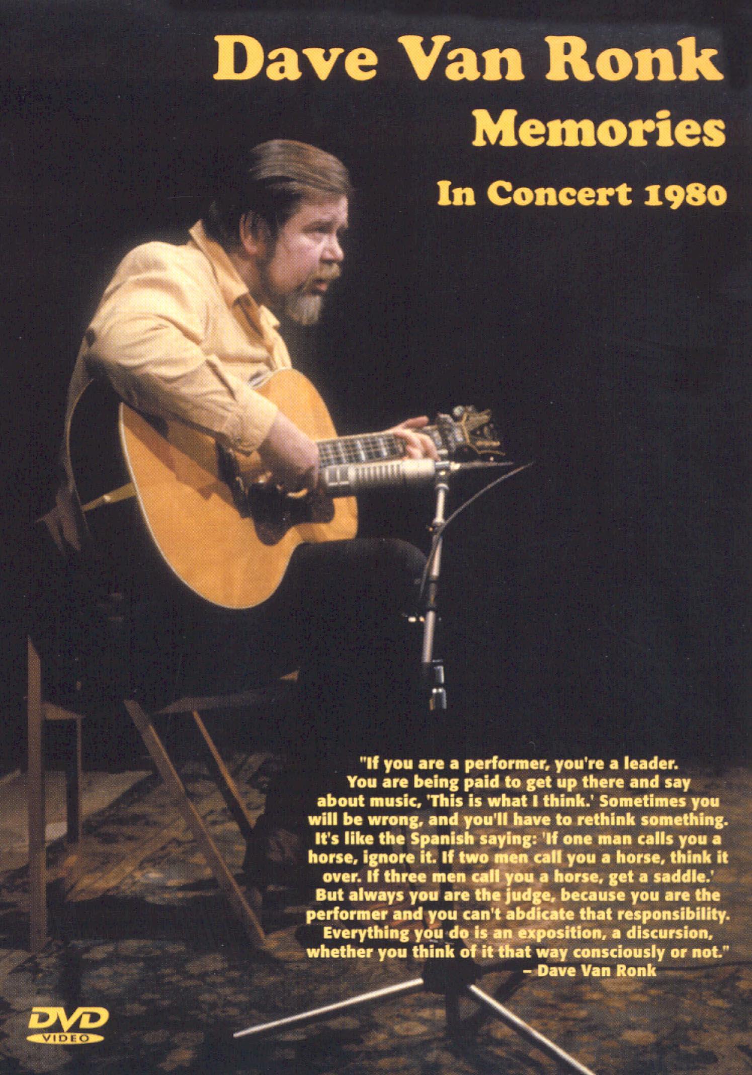 Dave Van Ronk: Memories - In Concert 1980