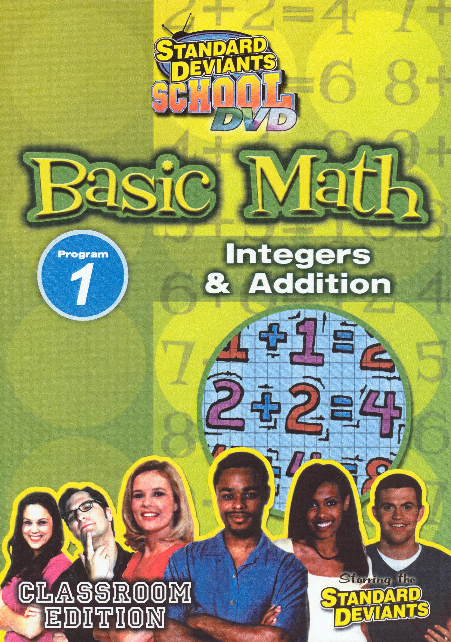 Standard Deviants School: Basic Math, Program 1