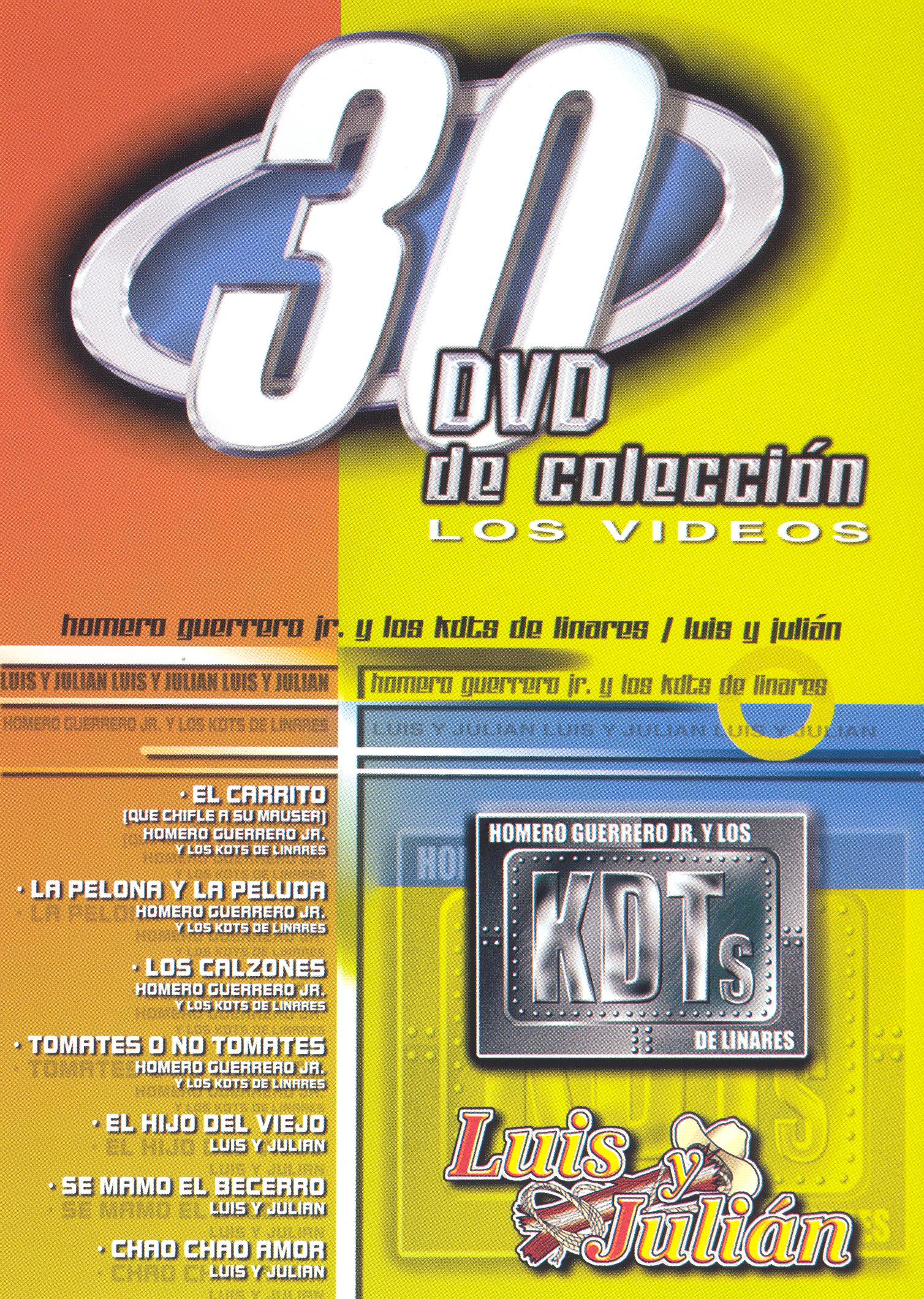 30 DVD De Coleccion: Homero Guerrero Jr/Luis Y Julian