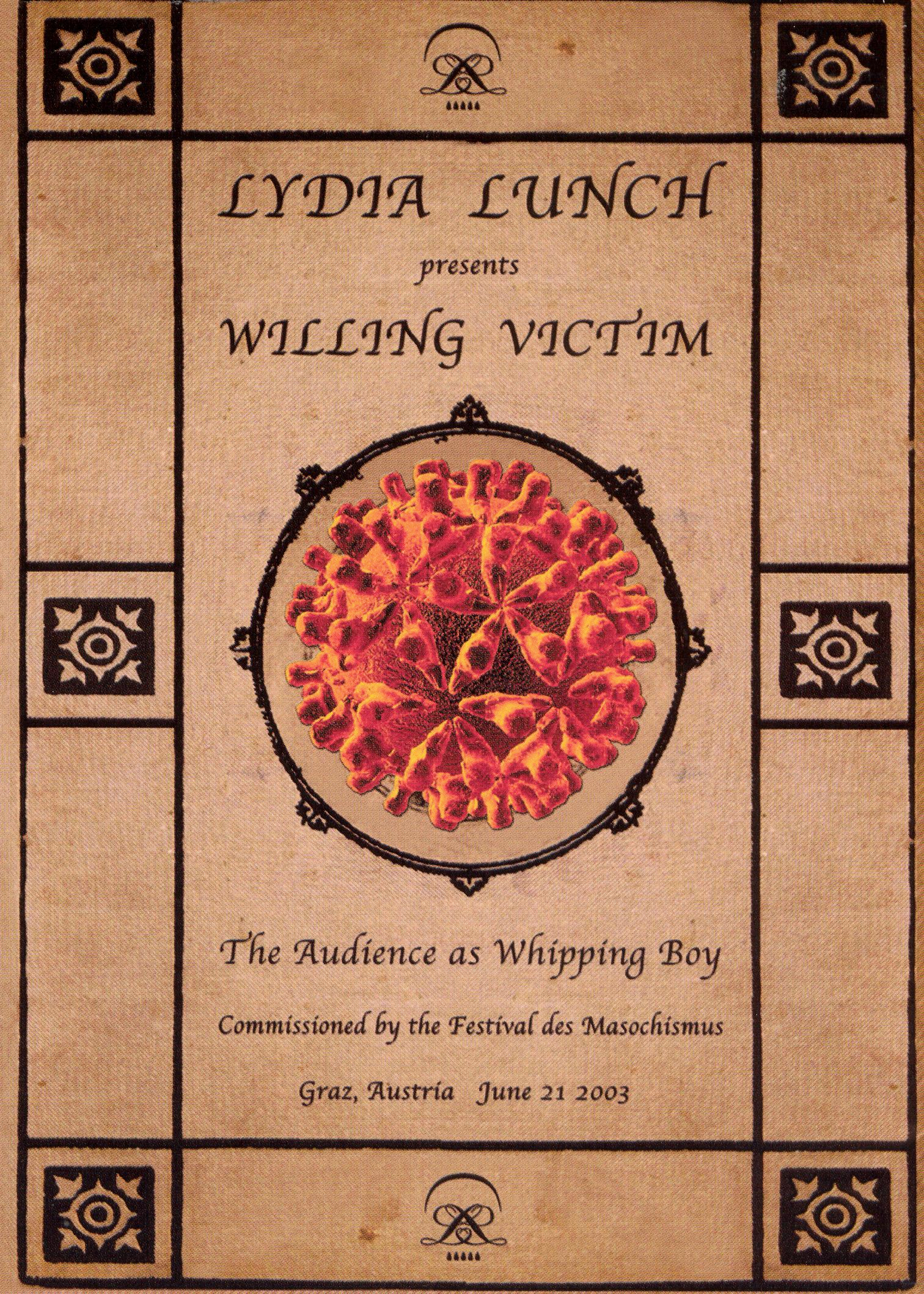 Lydia Lunch: Willing Victim