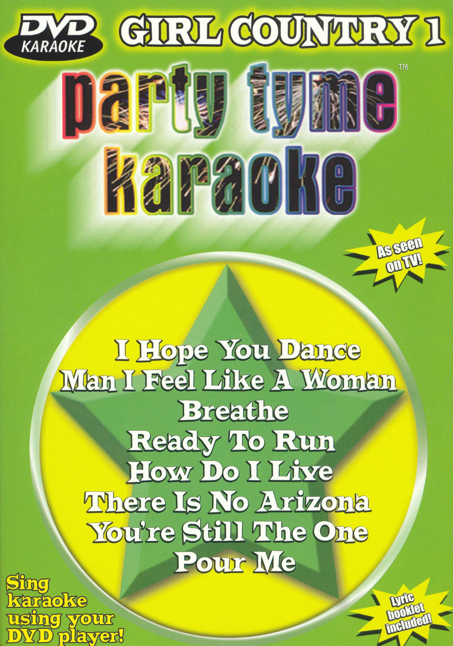 Party Tyme Karaoke: Girl Country, Vol. 1