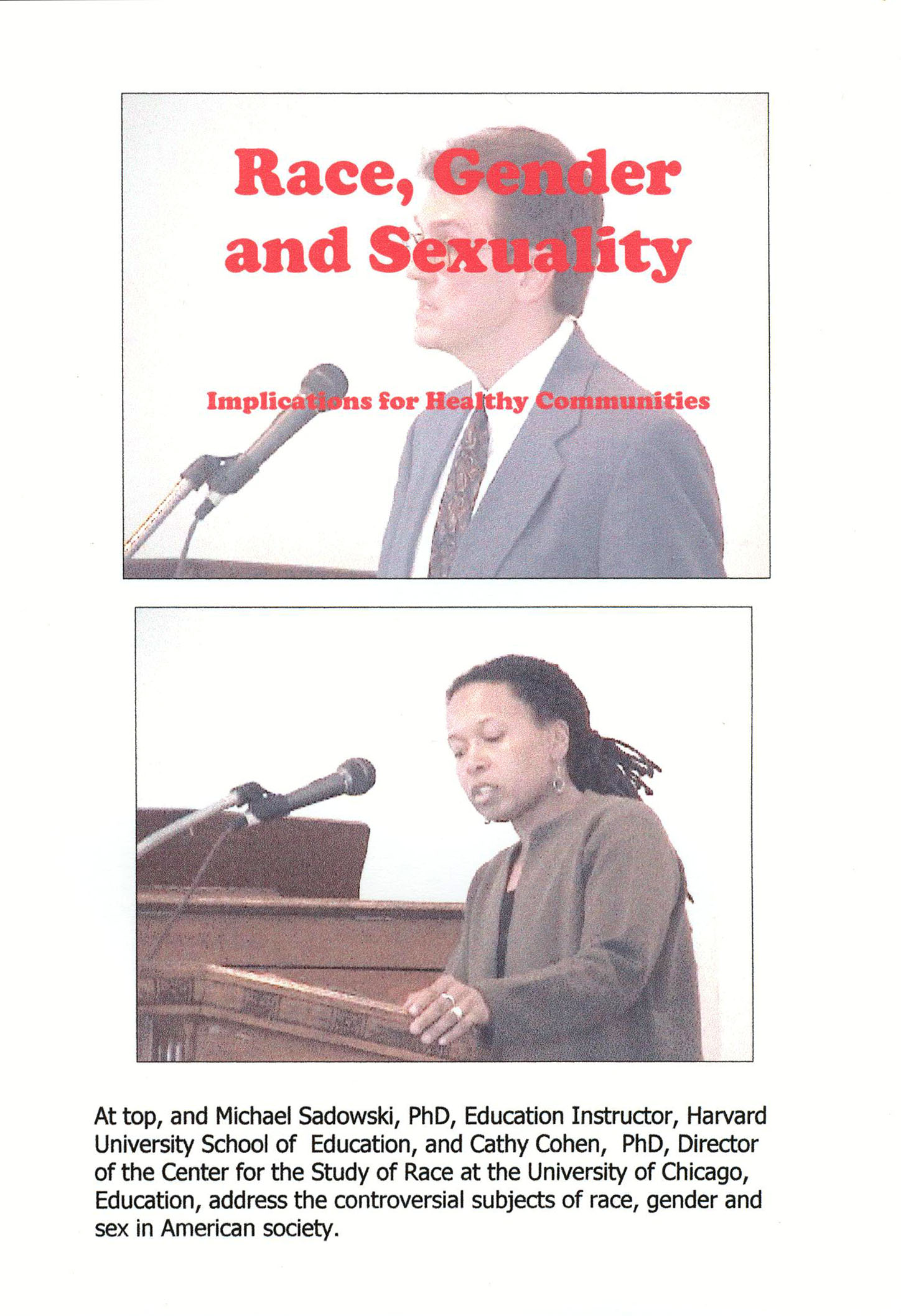 Race, Gender and Sexuality