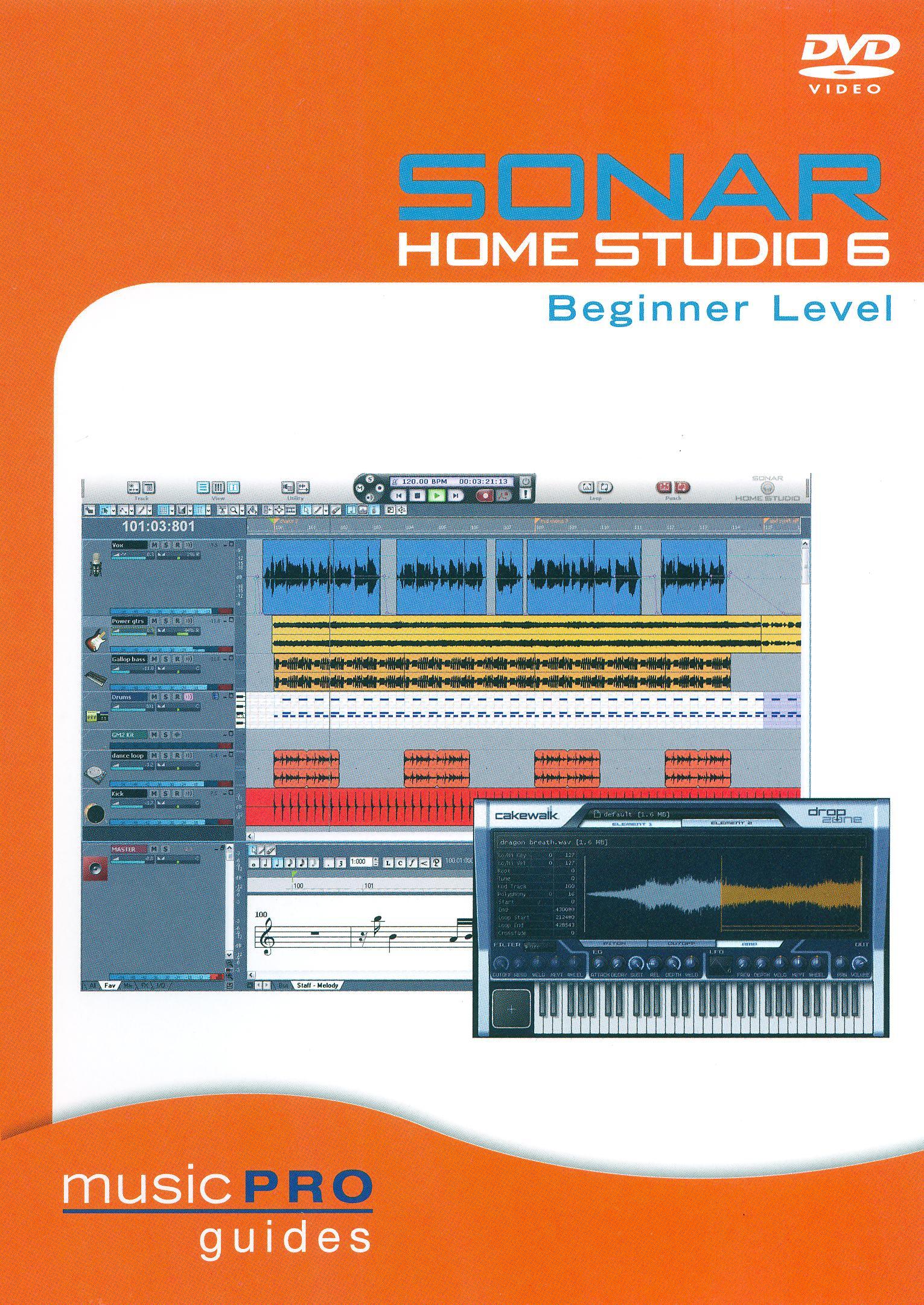 Sonar Home Studio 6: Beginner Level