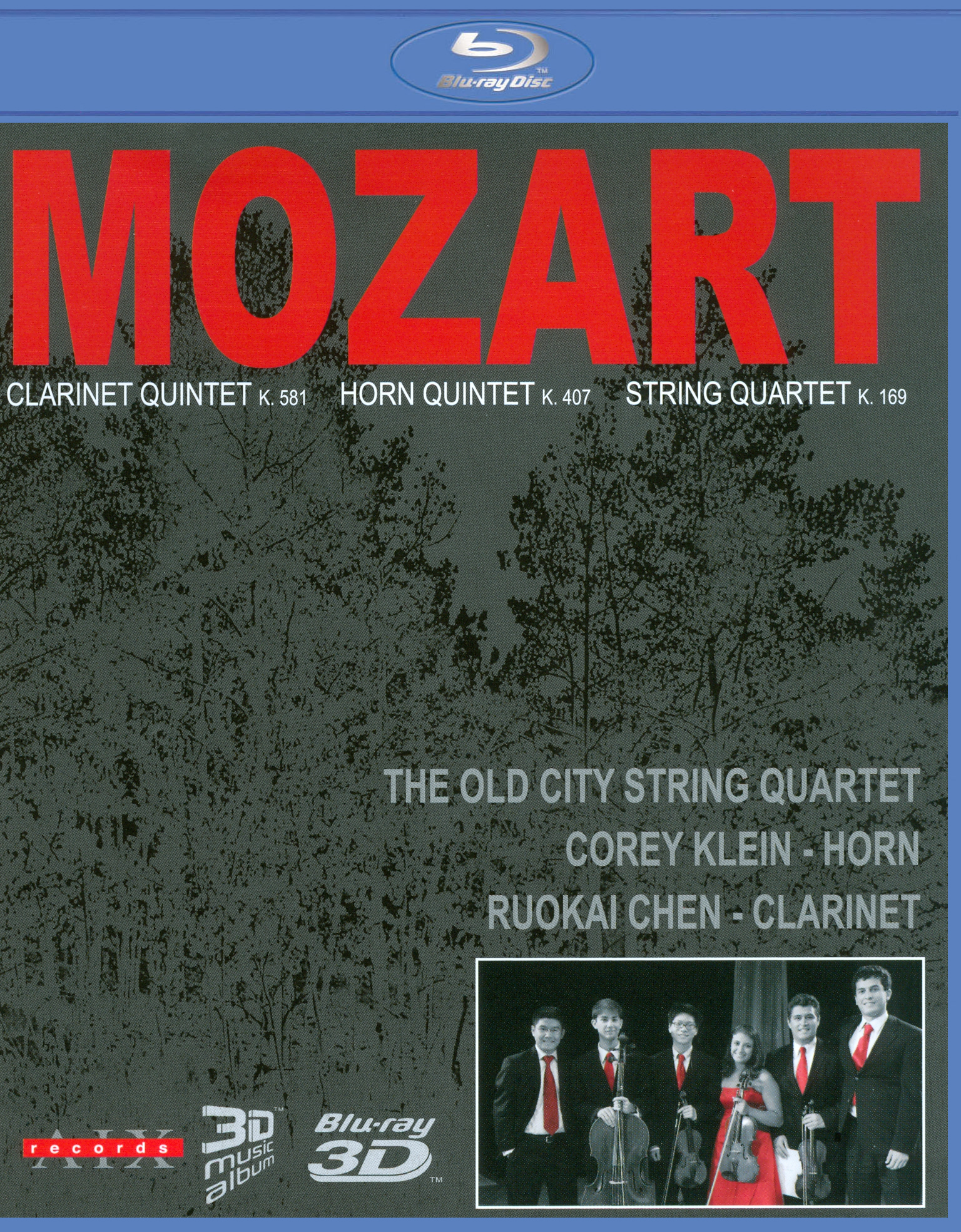 The Old City String Quartet: Mozart - Clarinet Quartet K. 581/Horn Quartet K. 407/String Quartet K. 1