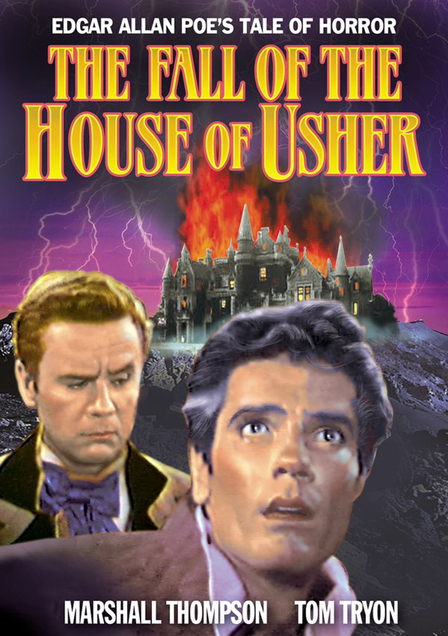 main theme of the fall of the house of usher Horror the fall of the house of usher (1950)  title theme (which is also  played several times throughout the movie) is actually the main title theme from  gary.