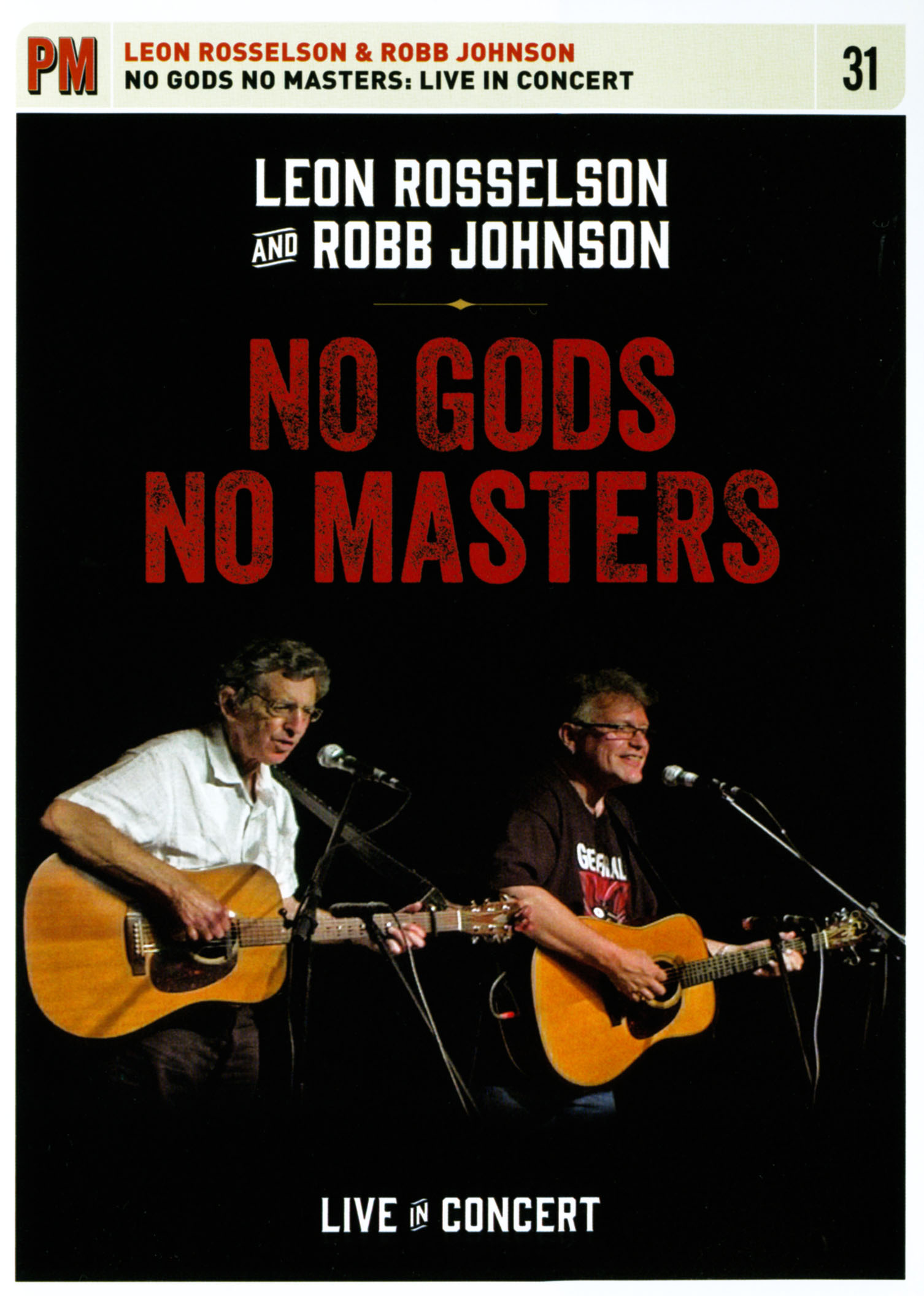 Leon Rosselson and Robb Johnson: No Gods No Masters - Live in Concert