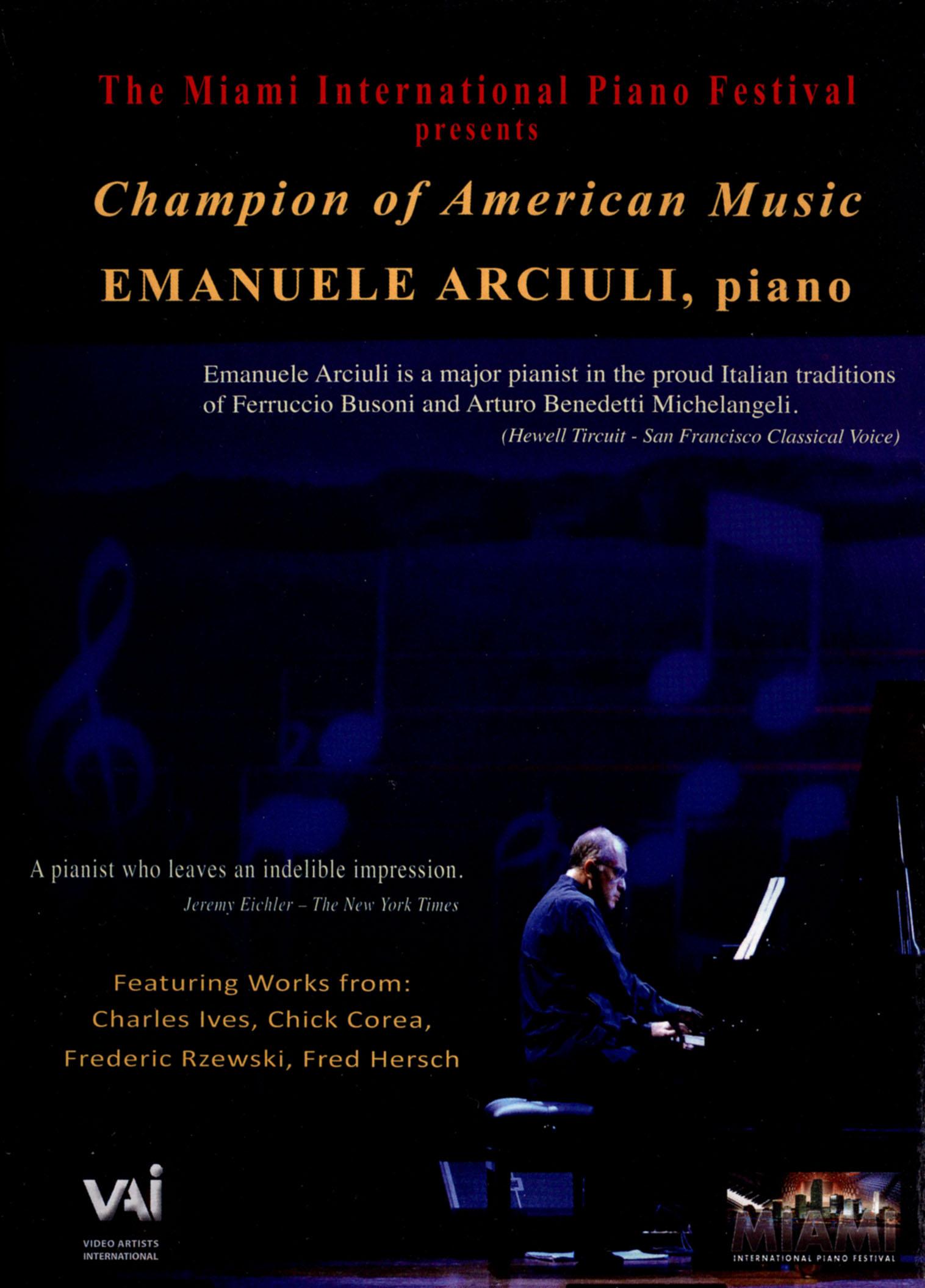 Emanuele Arciuli: Champion of American Music
