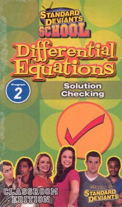 Standard Deviants School: Differential Equations, Program 2 - Solution Checking