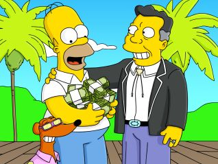 The Simpsons: Old Yeller Belly