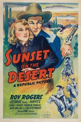 Sunset on the Desert