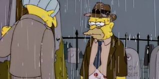 The Simpsons: Raging Abe Simpson and His Grumbling Grandson in