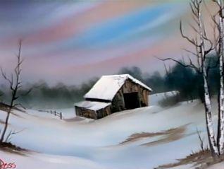 Bob Ross: Winter Barn