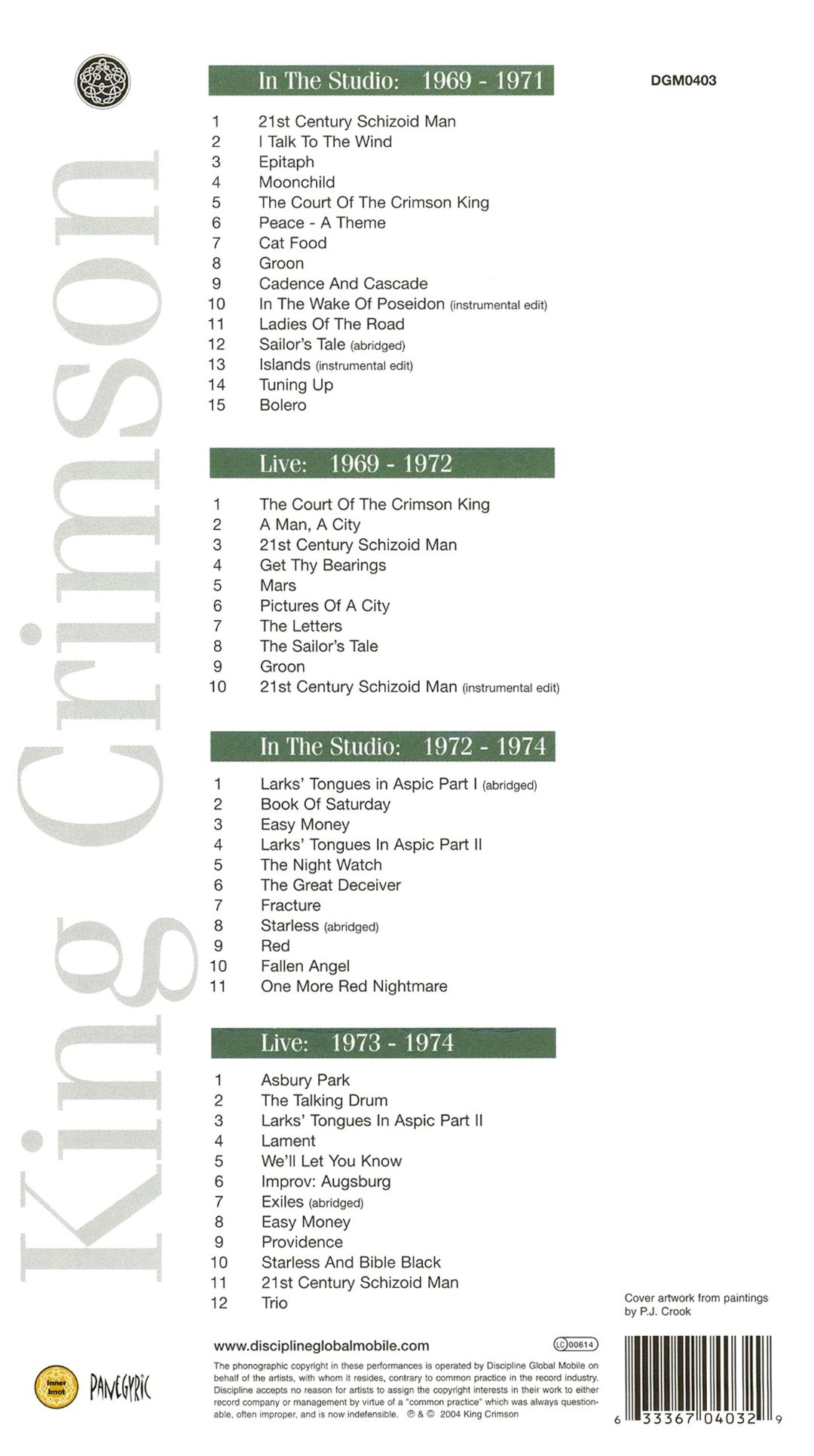 The 21st Century Guide to King Crimson, Vol. 1: 1969-1974