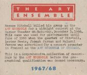 Art Ensemble: 1967/68