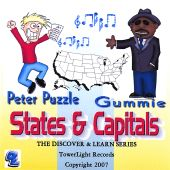 Discover & Learn: States & Capitals Featuring Peter Puzzle & Gummie