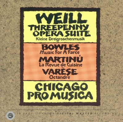Weill threepenny opera suite bowles music for a farce for Revue de cuisine