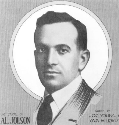 al jolson sitting on top of the world