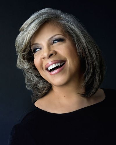 The 67-year old daughter of father (?) and mother(?), 168 cm tall Patti Austin in 2017 photo