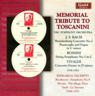 Memorial Tribute to Toscanini - NBC Symphony Orchestra ...