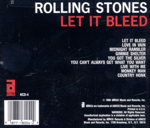 Let It Bleed - The Rolling Stones | Songs, Reviews ... Rolling Stones Songs