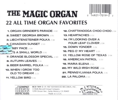 22 All Time Organ Favorites