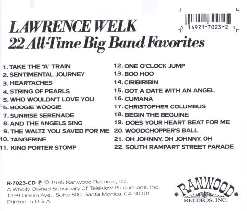 22 All Time Big Band Favorites
