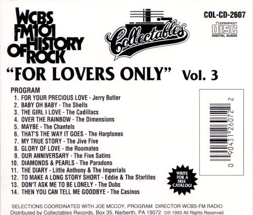 For Lovers Only: WCBS New York, Vol. 3