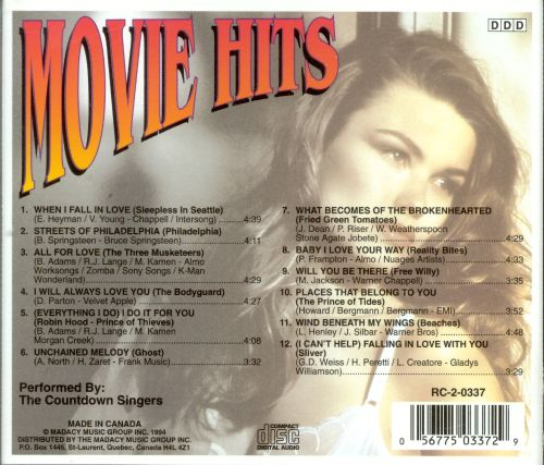 Movie Hits [Single Disc]
