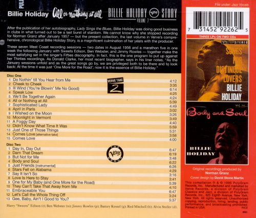 All or Nothing at All: The Billie Holiday Story, Vol. 7