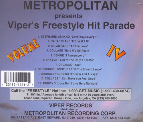 Viper's Freestyle Hit Parade, Vol. 4