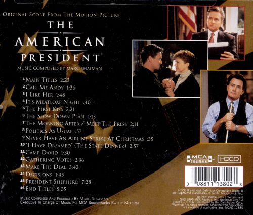The American President [Original Score from the Motion Picture]