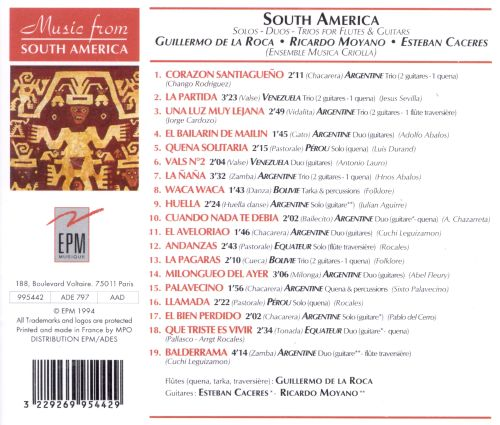 Music from South America: Solos, Duos, Trios for Flutes & Guitars