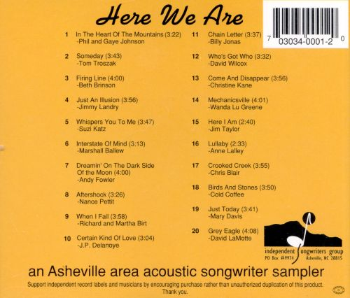 Here We Are: Songwriter Sampler