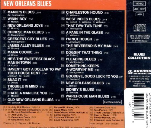 New Orleans Blues 1923-1940