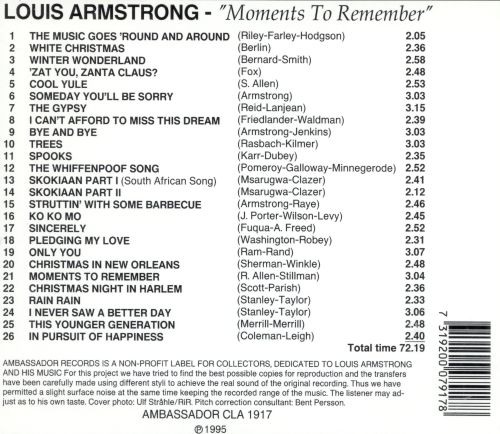 Moments to Remember, 1952-56