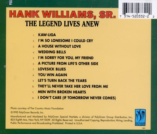 The Legend Lives Anew (Hank Williams with Strings)