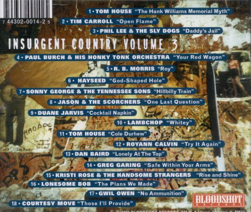 Insurgent Country, Vol. 3: Nashville - The Other Side of the Alley