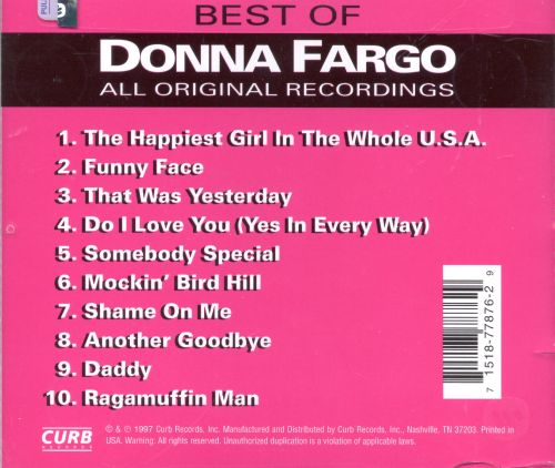 The Best of Donna Fargo [Curb]