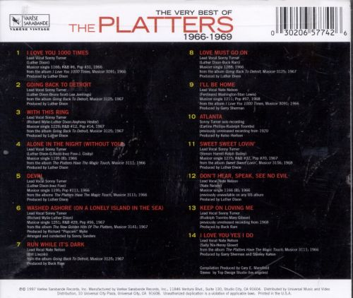 The Very Best of the Platters 1966-1969
