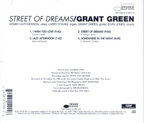 Street of dreams grant green songs reviews credits for Street of dreams