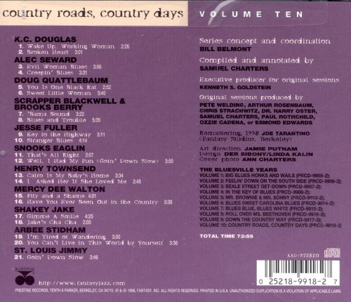 The Bluesville Years, Vol. 10: Country Roads, Country Days