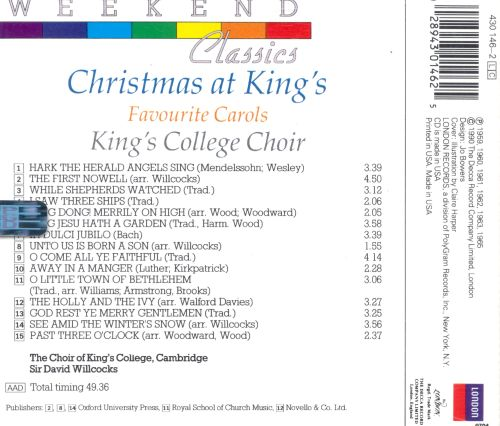 Christmas at King's: Favourite Carols [Weekend Classics]