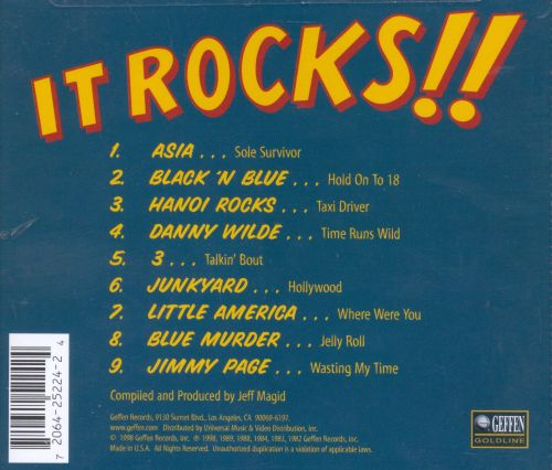Geffen Vintage 80s Presents: It Rocks!!