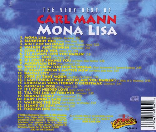 Mona Lisa: The Very Best of Carl Mann