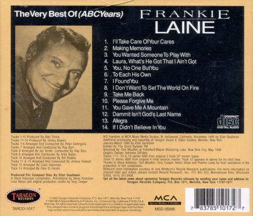 The Very Best of Frankie Laine (ABC Years)