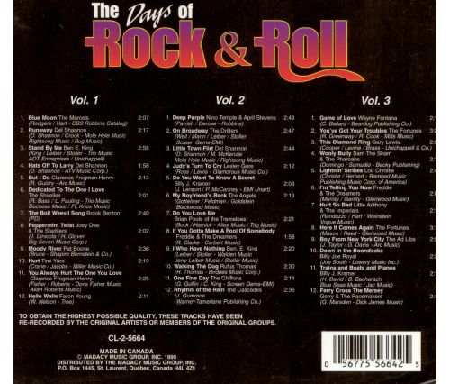 The Days of Rock 'N' Roll