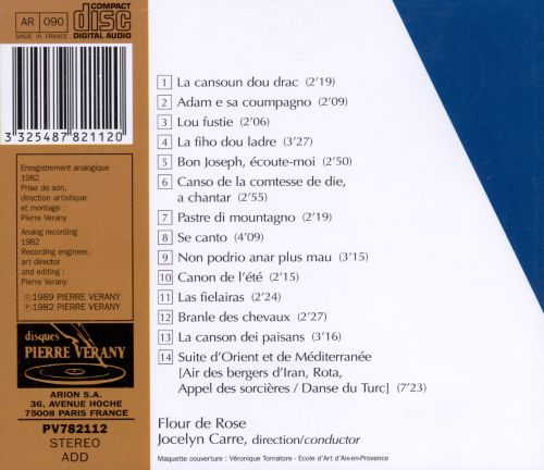 Songs & Music of Provence
